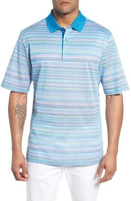 Bugatchi Stripe Mercerized Cotton Polo