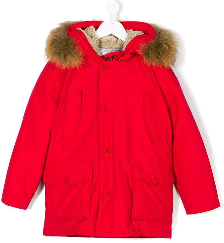 Freedomday Junior fur trimmed hood coat