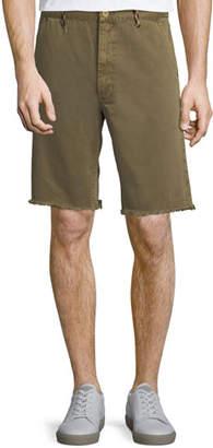 Frame Raw-Hem Twill Shorts with Rock-Climbing Rope Trim