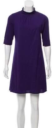 Velvet Mid-Sleeve Mini Dress