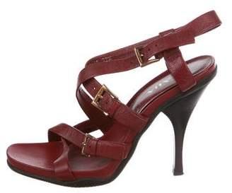Prada Leather Buckle Sandals