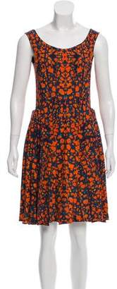 Cacharel Printed Knee-Length Dress