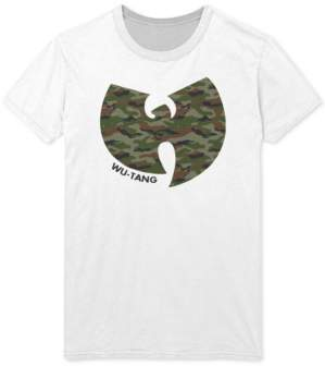 FEA Men's Camo-Print Wu-Tang Clan Graphic T-Shirt