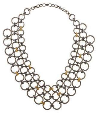 Gurhan Hoopla Chain Mail Bib Necklace