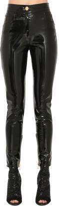 Balmain Faux Patent Leather Pants