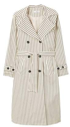 MANGO Striped belt trench