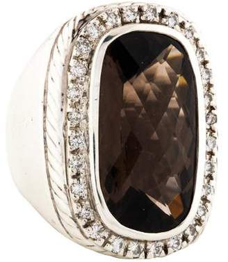David Yurman Albion Diamond & Smoky Quartz Cocktail Ring
