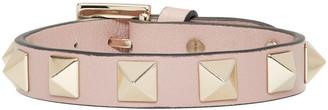 Valentino Pink Leather Rockstud Bracelet $175 thestylecure.com