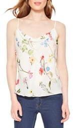 Parker Summer Floral Silk Camisole