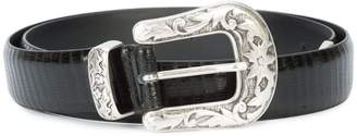 Eleventy engraved buckle belt