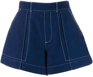 Chloé flared denim shorts
