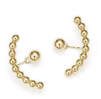 Bloomingdale's Ball Stud Ear Jackets in 14K Yellow Gold - 100% Exclusive