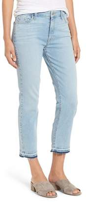 Jen7 Jen 7 Release Hem Crop Straight Leg Jeans (Riche Touch Playa Vista)