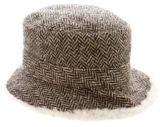 Hermes Herringbone Shearling Hat