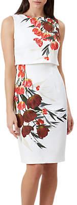 Hobbs Bree Floral Print Dress, Ivory/Multi