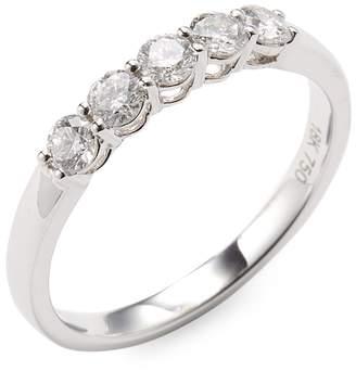 Vendoro Women's 18K White Gold Diamond Band Ring