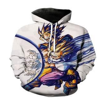 61b67974f8d7 Dragon Ball Z Unbranded Super Son Goku Vegeta 3D Sweatshirt Hoodie Anime  DF6 (XL