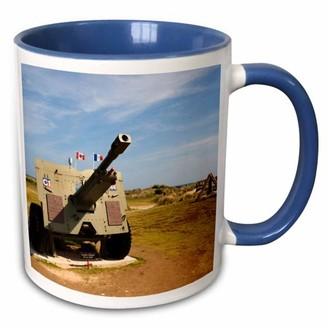 Walter 3drose 3dRose France, Normandy, Canadian artillery, WWII - EU09 WBI4017 Bibikow - Two Tone Blue Mug, 11-ounce