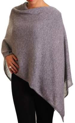 Black Warm Grey Knitted Cashmere Poncho