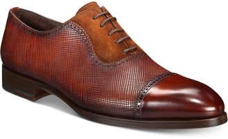 Massimo Emporio Men Mixed Water Resistant Cap-Toe Oxfords, Men Shoes