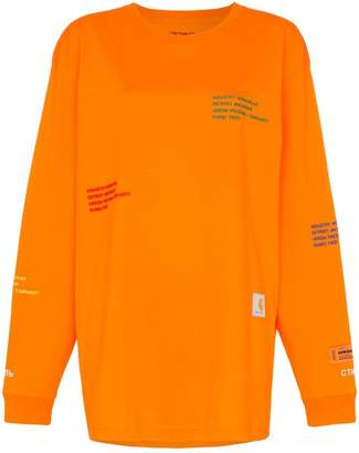 Heron Preston X Carhartt long sleeve cotton T-shirt