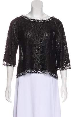 Joie Metallic Lace Top