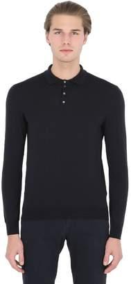 Drumohr Extra Fine Merino Wool Knit Polo Sweater
