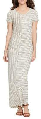 William Rast Brittany Directional Stripe Maxi Dress