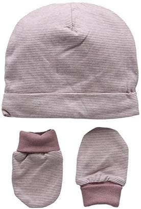 Mamas and Papas Baby Girls' Marl Stipe Mitts Hat,1 (Manufacturer Size: New Born)