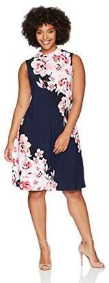 Tiana B Women's Plus Size Sleeveless Mock Neck Dress