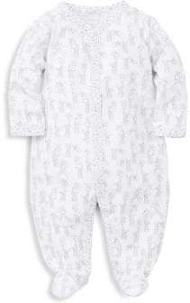 Kissy Kissy Baby's Silver Giraffe Print Footed Romper