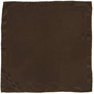 Saint Laurent Brown Silk Scarves