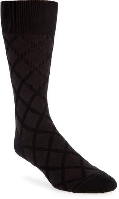 John W. Nordstrom R) Diamond Grid Socks