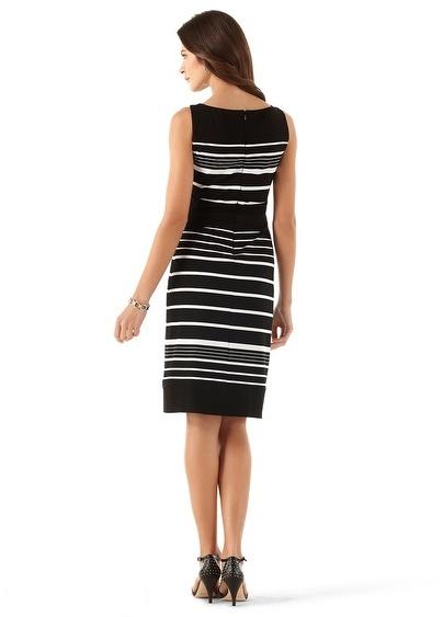 White House Black Market Stripe Knit Sheath Dress