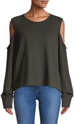 Rag & Bone Slash Cold-Shoulder Sweatshirt