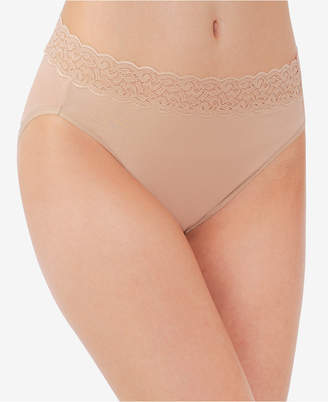 Vanity Fair Flattering Lace Cotton Stretch Hi-Cut Brief 13395
