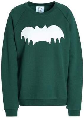 Zoe Karssen Embellished Cotton-Fleece Sweatshirt