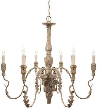 One Kings Lane Charlemagne Chandelier - Rustic Gray