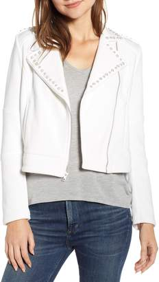 Cupcakes And Cashmere Cropped Knit Moto Jacket