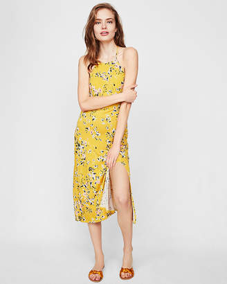 Express Floral High Neck Fitted Dress