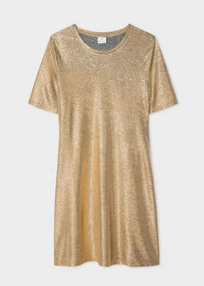 Paul Smith Women's Gold-Foil Textured T-Shirt Dress