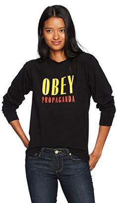 Obey Junior's Main Street Long Sleeve Crewneck Tee