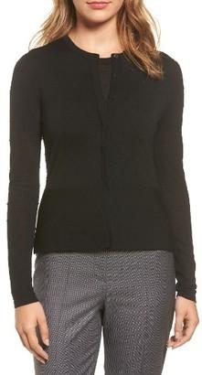 Women's Boss Faithe Dot Jacquard Cardigan $255 thestylecure.com