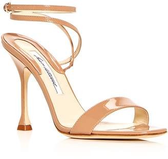Brian Atwood Women's Sienna Patent Leather Ankle Strap Sandals