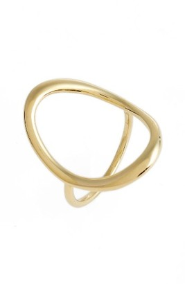 Women's Bony Levy Stackable Open Circle Ring (Nordstrom Exclusive) $595 thestylecure.com