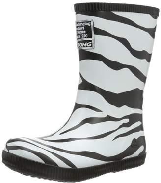 Viking Classic Indie Zebra, Unisex Kids' Wellingtons,2.5 UK ()