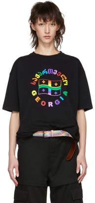 Vetements Black Rainbow Flag T-Shirt