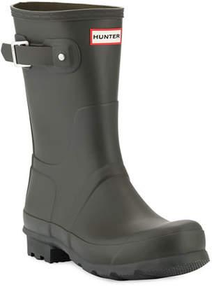 Hunter Men's Original Short Boots, Dark Olive