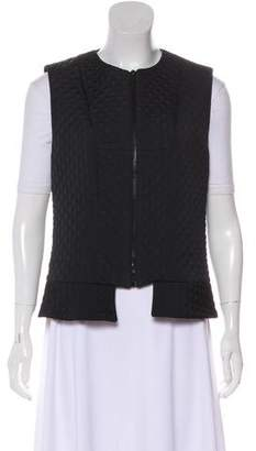 Derek Lam Quilted Scoop Neck Vest