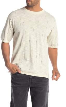 AllSaints Emms Distressed Short Sleeve Sweater